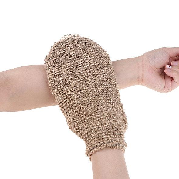 Hemp Fibre  Exfoliating Body Gloves