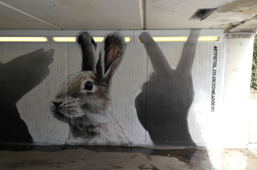 Rabbit street art