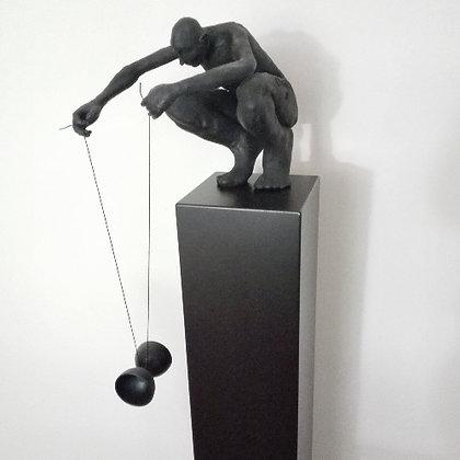 Diabolo - 3D print of brons