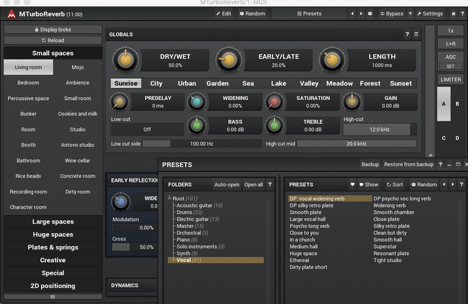 My presets for Melda production turbo reverb
