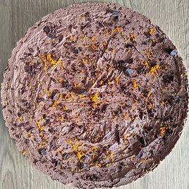 Chocolate orange vegan cheesecake