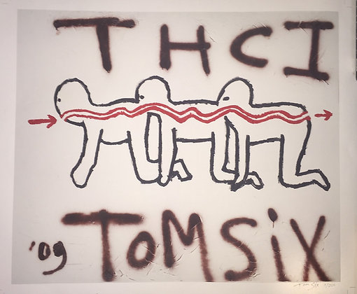 Limited luxury paintfart print of THC1, signed!