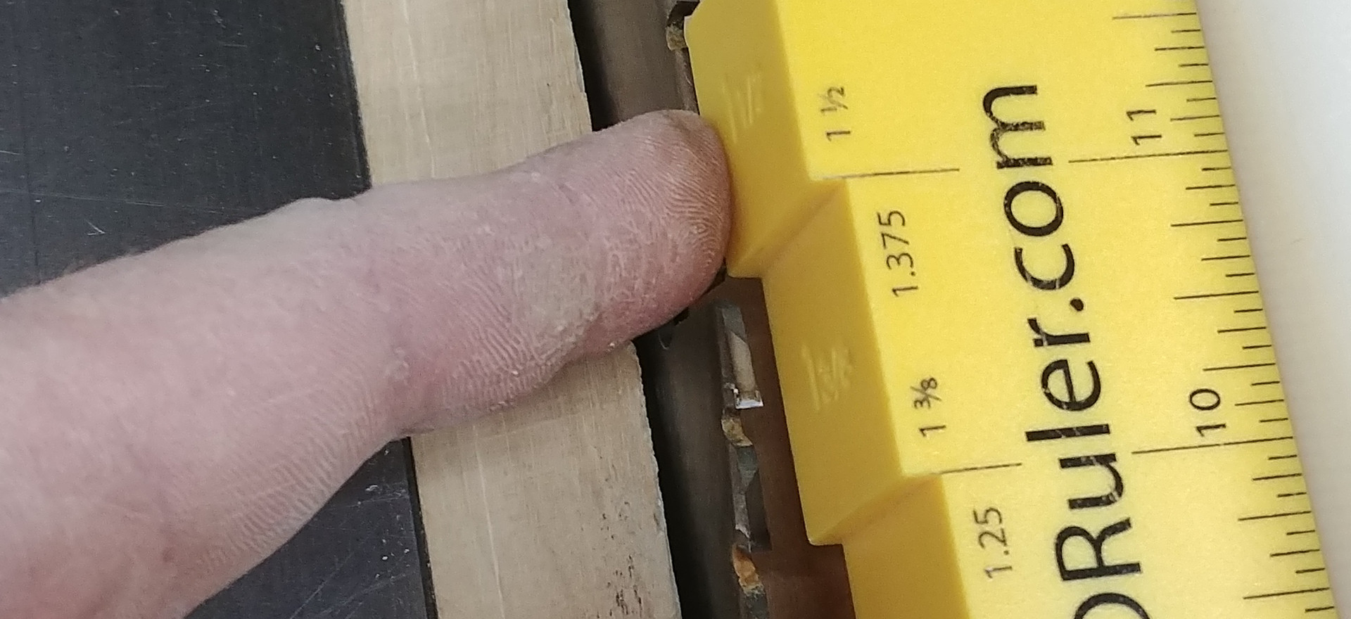 Rabbet cuts- Measure exactly to outside of blade