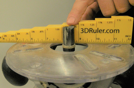 Portable Router Height Gauge
