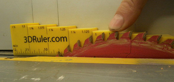 Table Saw Blade Height 2