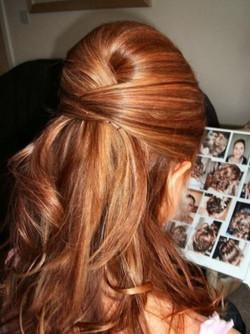 half up hair, bridal updo
