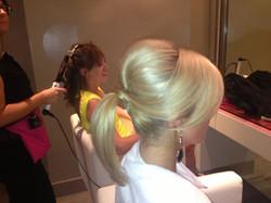 ponytail, bridesmaid updo