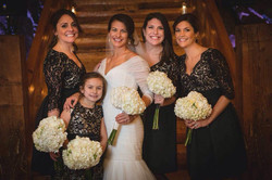 scituate wedding, bridal party