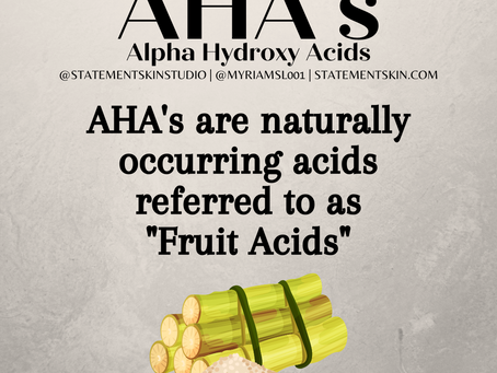 Acids and their benefits in skin care