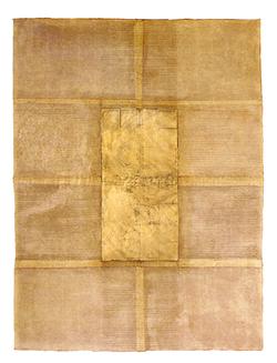 Ivory with gold leaf design