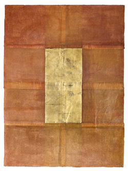 Terracotta with gold leaf design