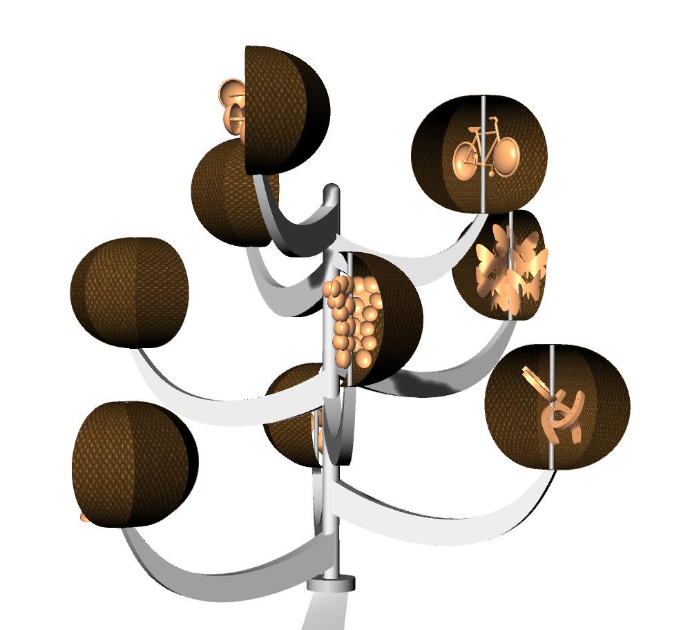 Harmony Tree - Wind Sculpture
