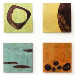 Paintings on Metal (set of 4)