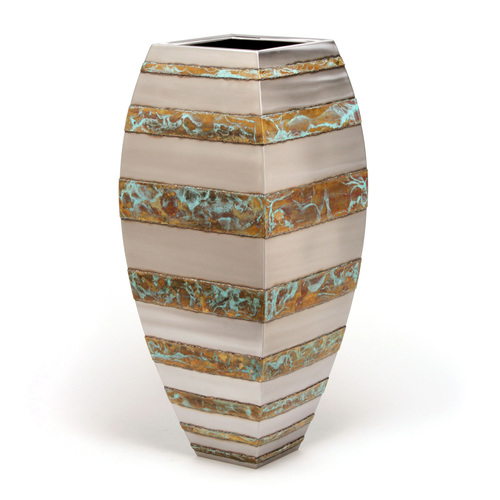 Floor Vase (horizontal bronze stripe