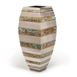 Floor Vase (horizontal bronze stripe