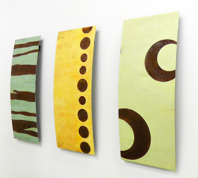 Paintings on Metal (Triptych)