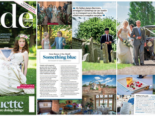 Emma and Piers' Wedding Featured in Cotswold Bride Magazine
