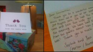 A lovely thank you card