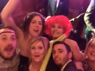 Video of crazy guests at Lucy and Ben's Epic Wedding!