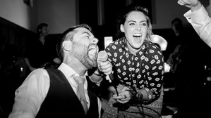 When the groom takes the mic!