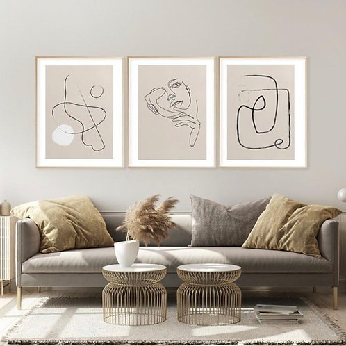 ONE LINE ART ABSTRACT NUDE SET