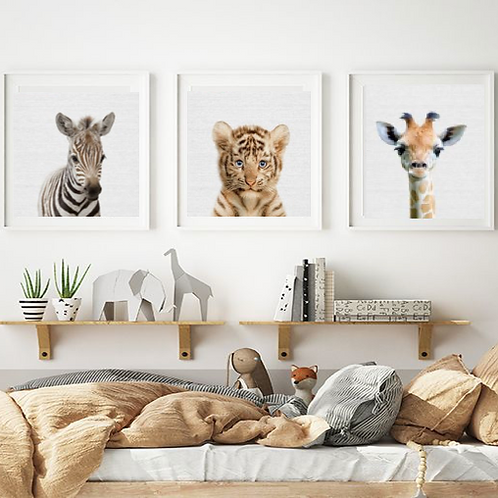 BABY SAFARI ANIMALS SET