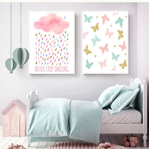 BUTTERFLYES & PINK RAIN SET