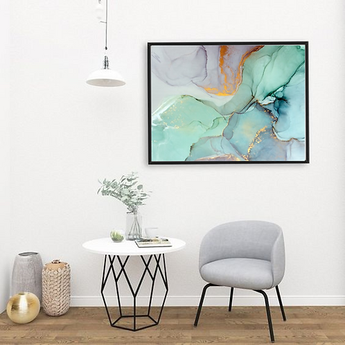 MARBLE & MINT WATERCOLOR FRAME