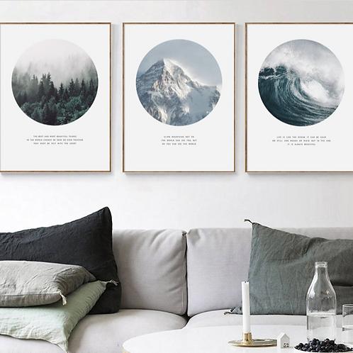 FOREST, MOUNTAIN & OCEAN SET