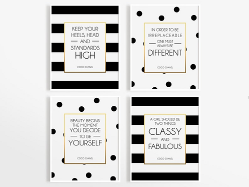 COCO CHANEL FRASES SET
