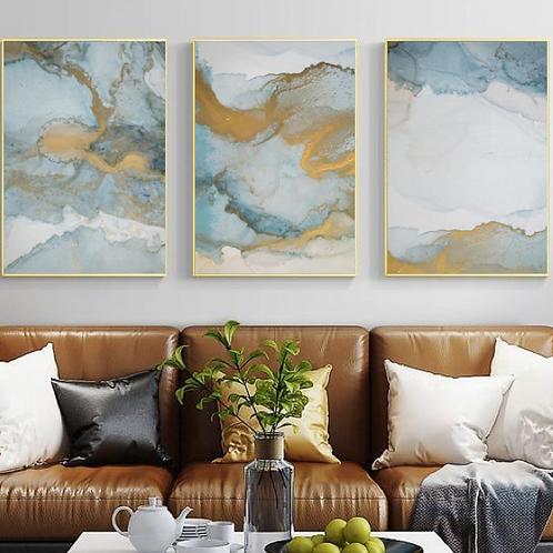 WATERCOLOR & TINT GOLDEN BLUE ART SET