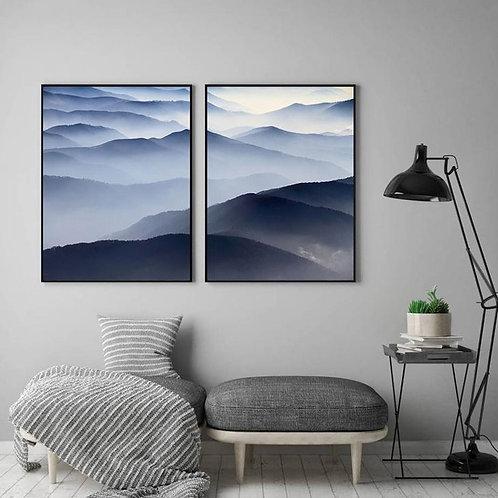 BLUE MOUNTAINS SILHOUETTES SET