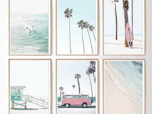CALIFORNIA COASTAL SURFING SET