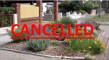 Parish Garden Competition Cancelled