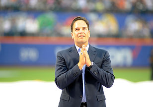 30 July, 2016. New York Mets former catcher Mike Piazza (31) bows to the crowd as he enters the field for his retirement ceremony .The ceremony was held at Citi Field in Flushing, NY.