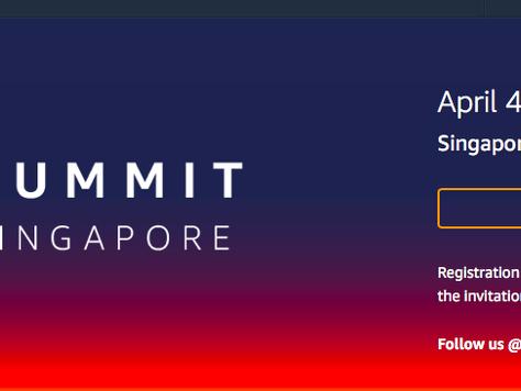 Upcoming: AWS Summit Singapore 2018
