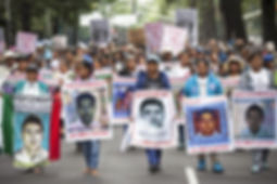 The families of the 43 missing students