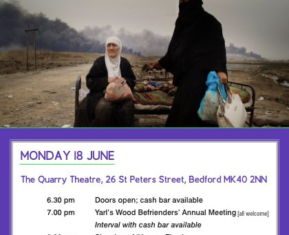 Join us for our Annual meeting and film showing of Human Flow by Ai Weiwei