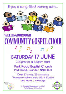 Fundraising Choir Event – 17th June