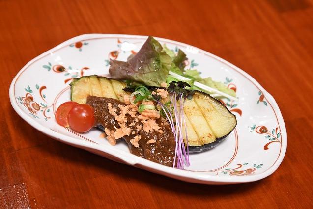 茄子の鮭味噌田楽