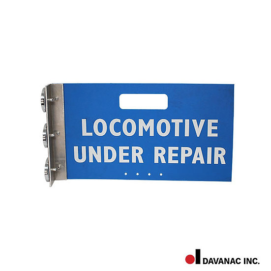 """Sign, locomotive magnetic, 8.5"""" x 15"""", reflective letters on both sides"""
