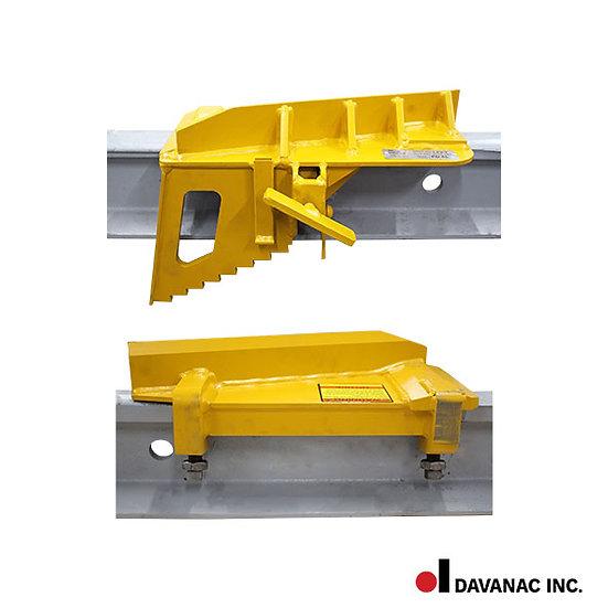 Derail portable, low profile, 80-141-lb. rail, pd-6l, l.h.