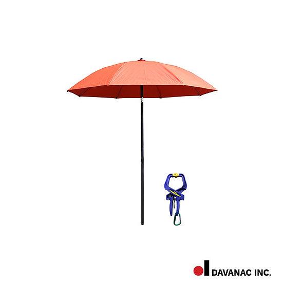 Umbrella, welders, 7ft c/w storage tube and one clamp