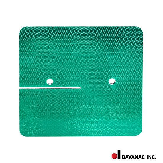 "Target, green, square 8"" x 8"", diamond grade 2 sides"