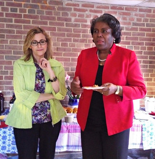 Carol with Ambassador Linda Thomas-Green