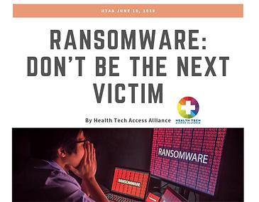 HTA RansomWare Article 2019 Cover Page_e