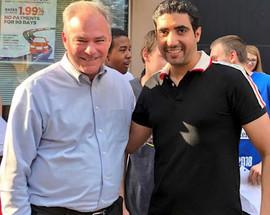 With Senator Tim Kaine