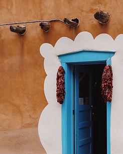 Santa Fe Blue Doorway Adobe taylor-simps
