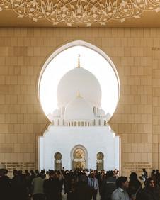 Grand Mosque in Abu Dhabi UAE