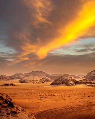 Wadi Rum Sunset Jordan